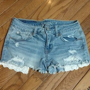 American eagle shortie shorts size 0
